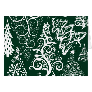 Festlig julafton för helgdaggröntjulgranar hälsnings kort