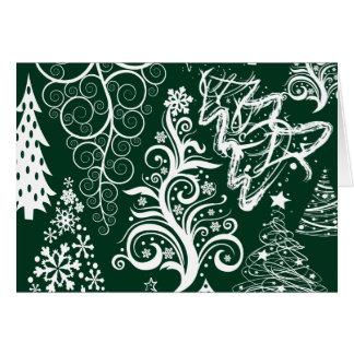 Festlig julafton för helgdaggröntjulgranar OBS kort