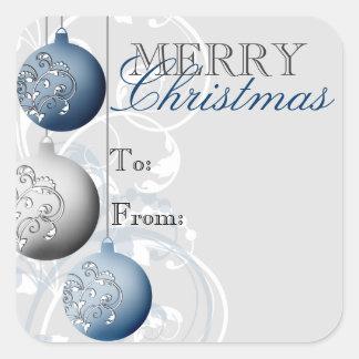 Festlig klistermärke för julgåvamärkre