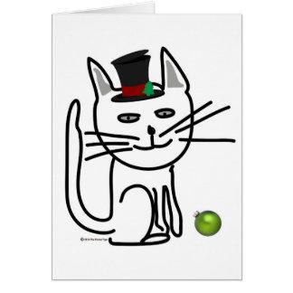 Festlig lycklig katt hälsningskort