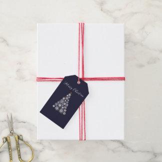 Festlig märkre för gåva för Snowflaketrädjul Presentetikett