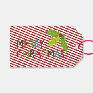 Festlig märkre för god julhelgdaggåva presentetikett