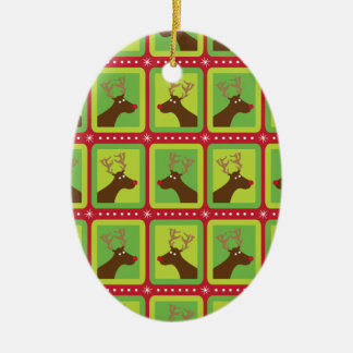 Festlig ren ovalformad julgransprydnad i keramik