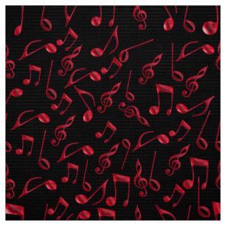 Festlig röd musik noter på svart eller din färg tyg
