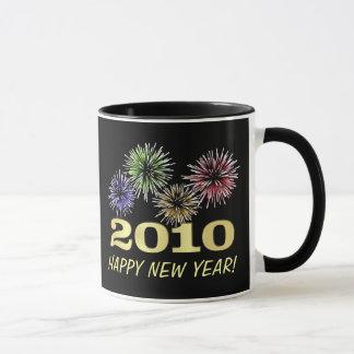 Festliga fyrverkerier för gott nytt år - mugg