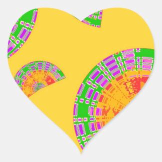 Festliga snäckor hjärtformat klistermärke