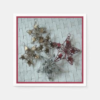 Festliga stjärnor pappersservetter