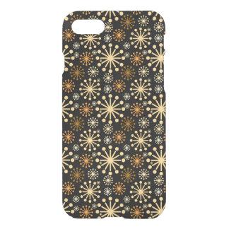 Festligt guld- och silversnöflingormönster iPhone 7 skal