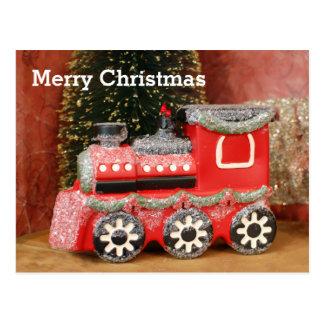 Festligt julhelgdagtåg vykort