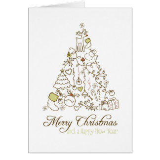 Festligt kort för julsångträdgod jul