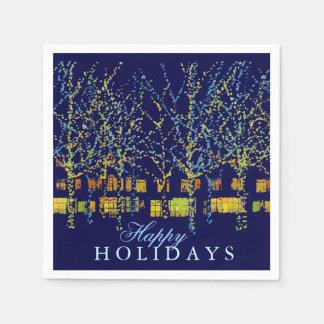 Festligt ljus för glad helg papper servetter