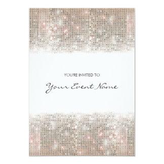 Festligt party för Sparkly silverFauxSequins 12,7 X 17,8 Cm Inbjudningskort