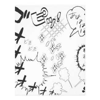 Festligt verkställa av japanska Manga Brevhuvud