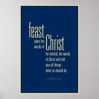 Festmåltid på ord av Kristus (LDS) Poster