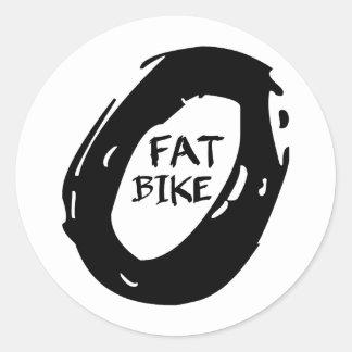 Fet cykel runt klistermärke