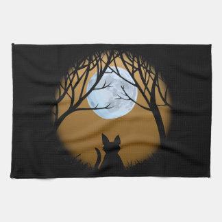Fet dekor för katt för handdukar för Tea för konst