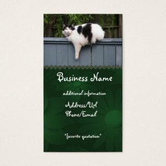 Fet katt på staket visitkort