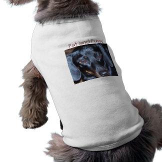 Fet och petig tax långärmad hundtöja