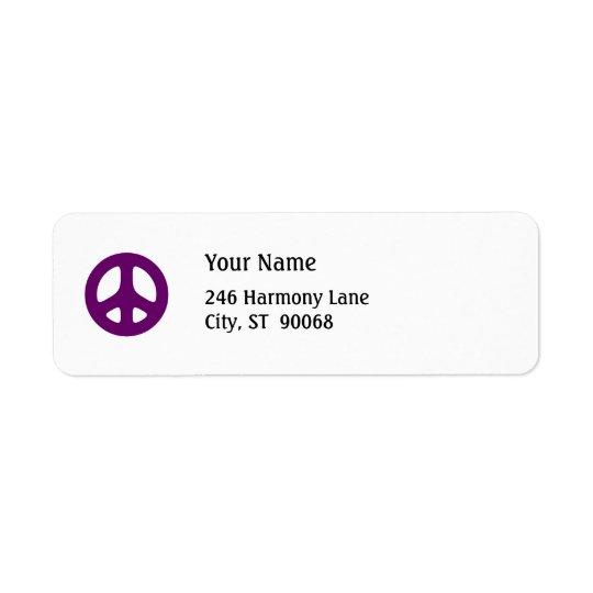 Fet purpurfärgad etikett för beställnings- retur f returadress etikett