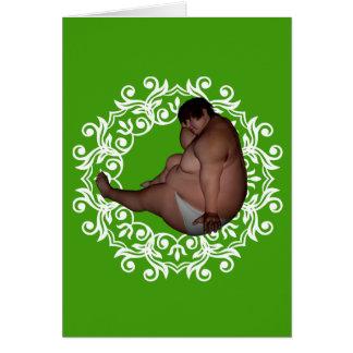 Fet stor fet jul för man |! Kusligt hälsningkort Hälsningskort