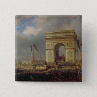 Fete de la Fraternite på Arcet de Triomphe Standard Kanpp Fyrkantig 5.1 Cm