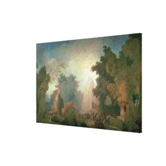 Feten på Sanktt-Molnet (olja på kanfas) (för detai Canvastryck