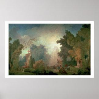 Feten på Sanktt-Molnet (olja på kanfas) (för detai Poster
