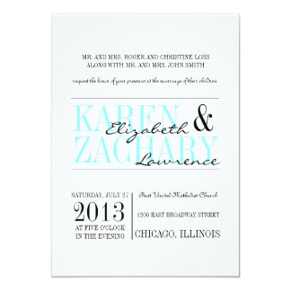 Bold Type Wedding Invitation