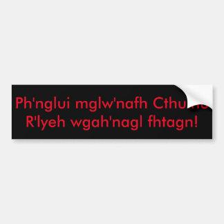 Fhtagn för Ph'nglui mglw'nafhCthulhu R'lyeh Bildekal