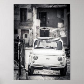 Fiat 500, Cinquecento, i italienaffisch Poster