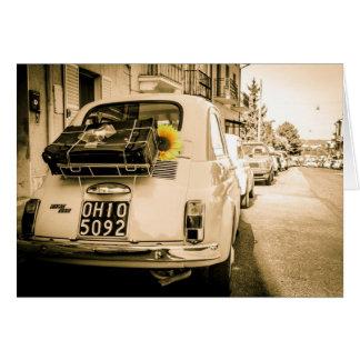 Fiat 500 Rome Hälsningskort