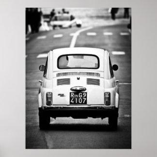 Fiat 500, vintagecinquecento, Rome italienaffisch Poster