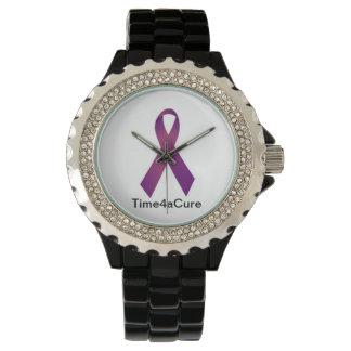 Fibro purpurfärgad Lupus för Cystic Fibrosis för Armbandsur