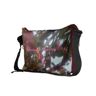 FibromyalgiamedvetenhetDag-Maj 12th-Floral-Bag Kurir Väskor