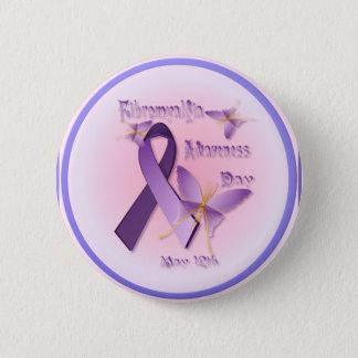 Fibromyalgiamedvetenhetdagen knäppas standard knapp rund 5.7 cm