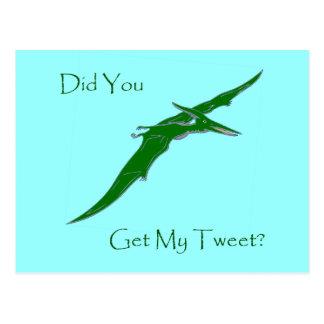 Fick du min Tweet? Vykort