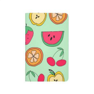 Fick- journal för gullig lite fruktsallad