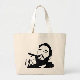 Fidel Castro med cigarrporträtttoto hänger lös Tote Bags