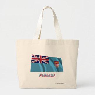 Fidschi Fliegende Flagge mit Namen Tote Bag