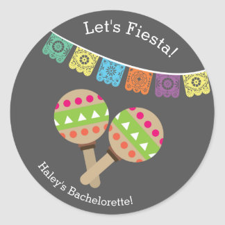 Fiesta för Bachelorette etikettsjumbo Runt Klistermärke