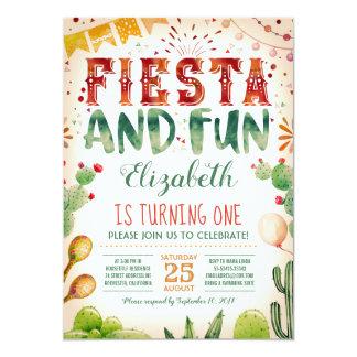 Fiesta och sommarfödelsedagsfest för roligt   12,7 x 17,8 cm inbjudningskort