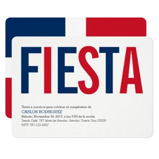 FiestaDominikanska republiken 12,7 X 17,8 Cm Inbjudningskort