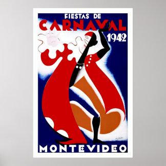 Fiestas de Carnaval ~ Montevideo Poster