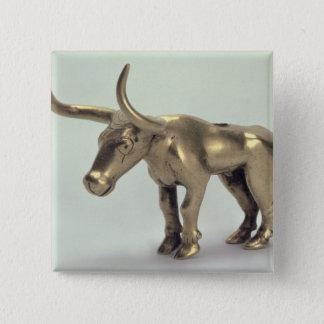Figur av en tjur standard kanpp fyrkantig 5.1 cm