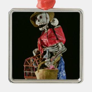 Figur för day of the dead julgransprydnad metall