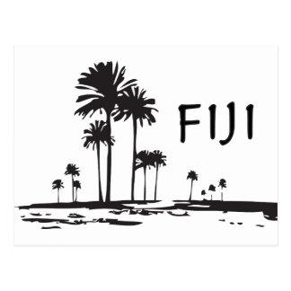 Fiji - grafiska palmträd vykort