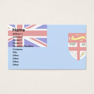 Fijiansk flagga visitkort