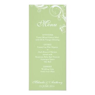 Filigree virvla runt grönska 10,2 x 23,5 cm inbjudningskort