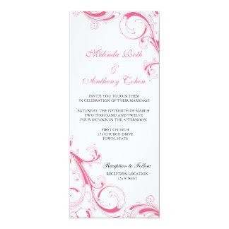 Filigree virvla runt rosor 10,2 x 23,5 cm inbjudningskort