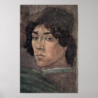 Filippino Lippi - självporträtt av konstnären Poster